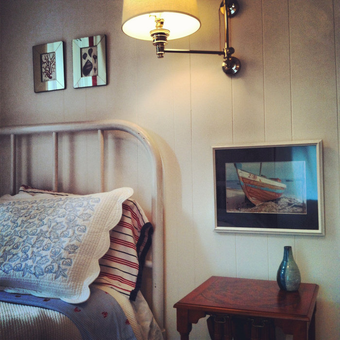 Nautical Style Guest Room - Watch Hill, RI