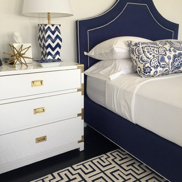 Navy and White Guest Bedroom