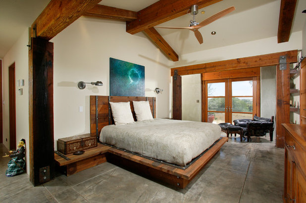 Farmhouse Bedroom by Sage Architecture, Inc.