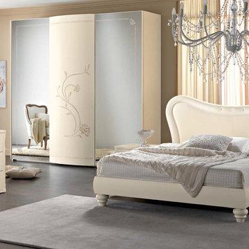 Neoclassical Bed / Bedroom Amalfi Ivory by Spar - Bedroom Sets
