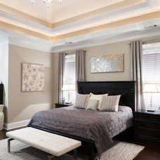 Transitional Bedroom by Andrew Sherman Photography
