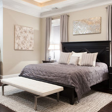 Transitional Bedroom by 24e Design Co.
