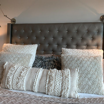 Neutral Master bedroom bed pillows