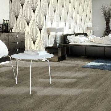 Nevis Grey Vinyl Plank Flooring - Wood Grain