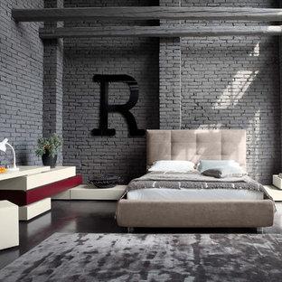 Industriell inredning av ett sovrum