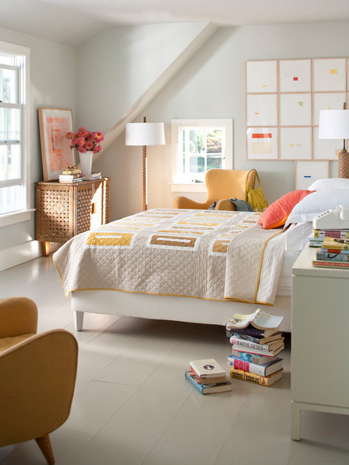 Trendy bedroom photo in New York with gray wallsModern Traditional Bedroom   Houzz. Modern Traditional Bedroom. Home Design Ideas