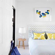 Transitional Bedroom by Claire Stevens Interior Design