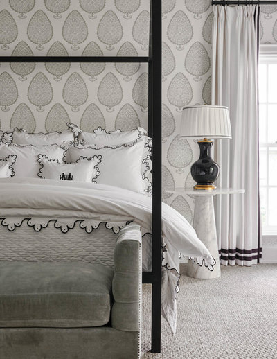 Transitional Bedroom by Hudson Construction Group