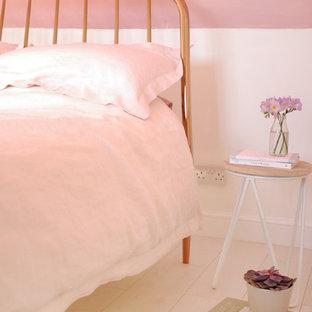Inspiration för ett shabby chic-inspirerat sovrum