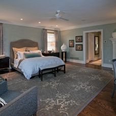 Transitional Bedroom by Diane Paparo Associates