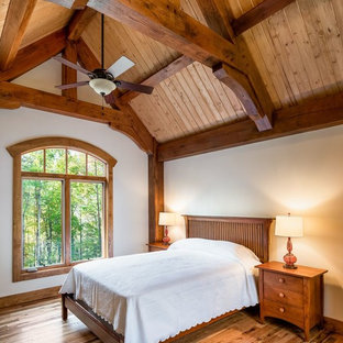 This is an example of an arts and crafts bedroom in Other.