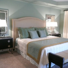 Transitional Bedroom by Catharine Healy Design