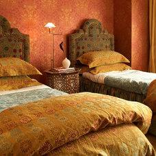 Mediterranean Bedroom by Stephanie Wohlner Design