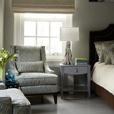 Contemporary Bedroom by Carolyn Rebuffel Designs
