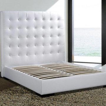 New York NYC White Modern Platform Bed Delano - $1,050.00