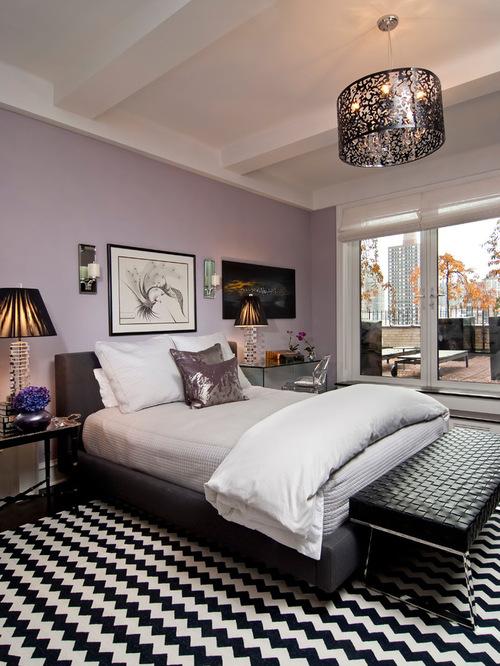 Lavender bedroom houzz for Lavender color bedroom designs