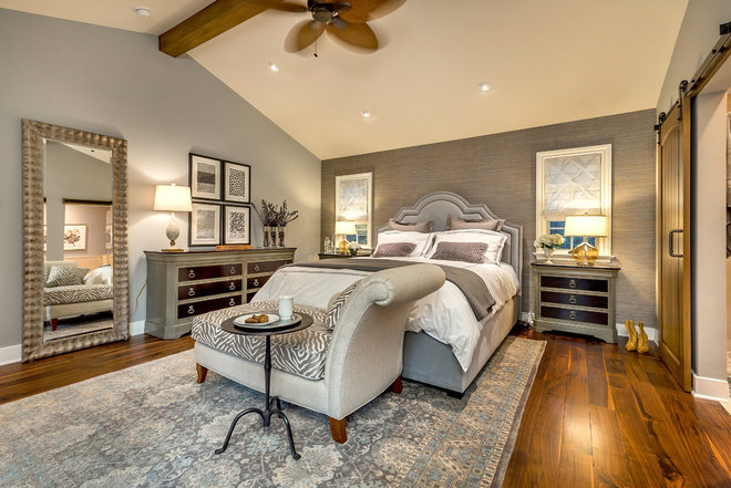 Transitional Bedroom by Arena Construction Inc.