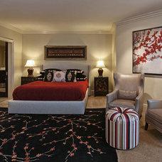 Asian Bedroom by Joyce Bright Interiors, Inc.