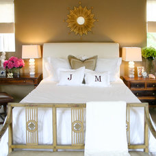 beach style bedroom by Jessica Bennett Interiors