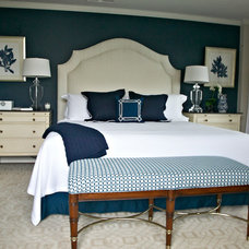 Beach Style Bedroom by Libby Langdon Interiors, Inc.