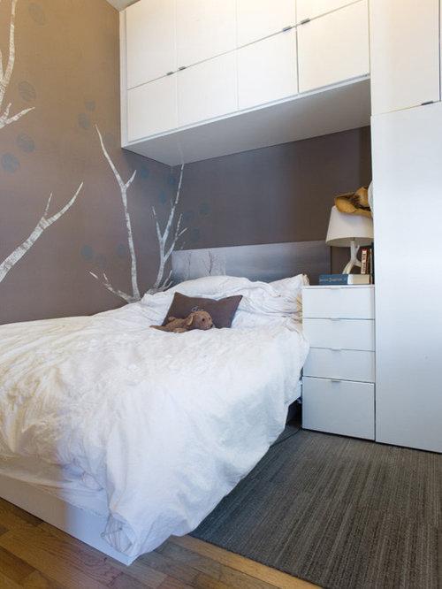 Chambre moderne avec un mur marron photos et id es d co for Moquette moderne chambre