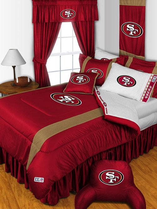San francisco 49ers curtains bedroom design ideas for 49ers room decor