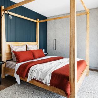 Design ideas for a scandinavian bedroom in Melbourne.