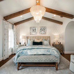 Inspiration For A Large Timeless Master Dark Wood Floor Bedroom Remodel In  Dallas With No Fireplace