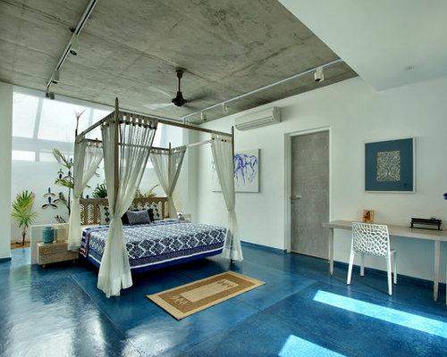 kolonialstil schlafzimmer mit wei er wandfarbe ideen design bilder houzz. Black Bedroom Furniture Sets. Home Design Ideas