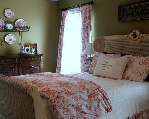toile bedrooms ideas pictures remodel and decor layers of red toile bedding textiles bedrooms pinterest
