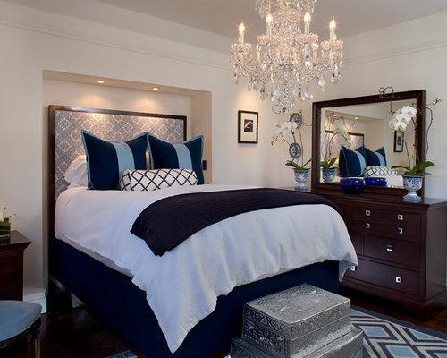 Chandelier over bed houzz Master bedroom chandelier size