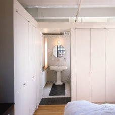 Industrial Bedroom by Ann Marie Baranowski Architect PLLC