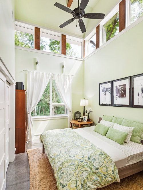 Green bedroom houzz for Blue and green girls bedroom ideas