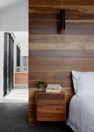 コンテンポラリー 寝室 by Rebecca Naughtin Architect