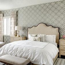 Transitional Bedroom by J & J Design Group, LLC.