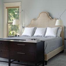 Transitional Bedroom by Lara Taylor Interiors