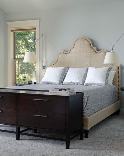 Transitional Bedroom by Lara Taylor Interiors