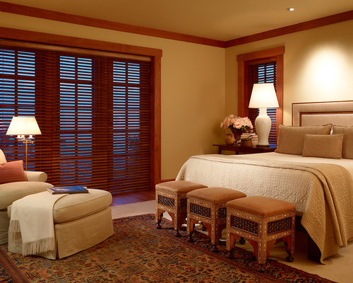 Wood Blinds on craftsman master bedroom design ideas