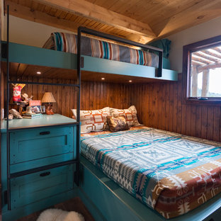 This is an example of a country bedroom in Denver.