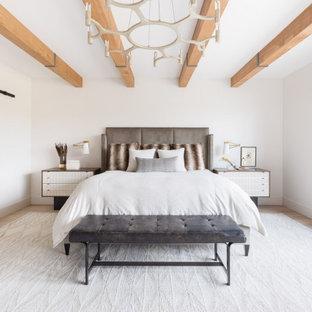 Bild på ett maritimt sovrum