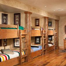 Rustic Bedroom by Superior Hardwoods of Montana