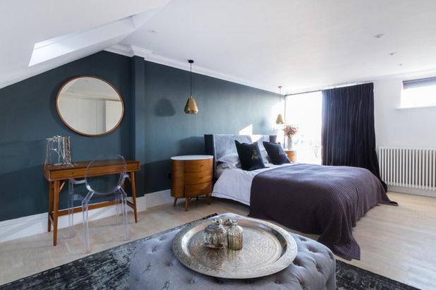 Midcentury Bedroom by Honey Bee Interiors