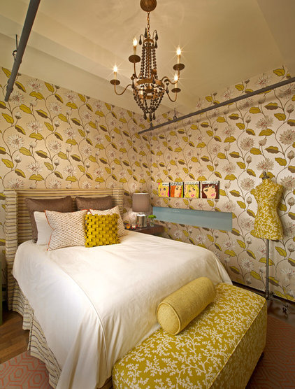 Eclectic Bedroom by Laura U, Inc.