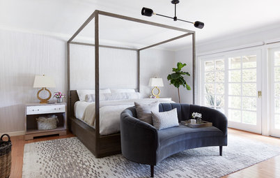 Soothing Whites and Grays Create a Refreshing Master Bedroom