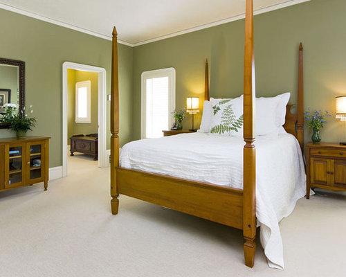 Bedroom Design Ideas Green Walls sage green bedroom design ideas, remodels & photos | houzz