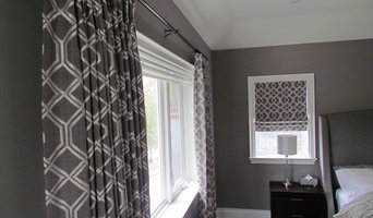 Oakville custom drapery and roman shades