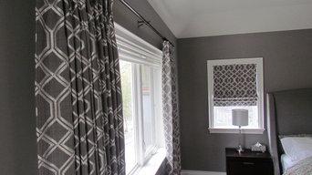 Oakville custom drapery and roman shades
