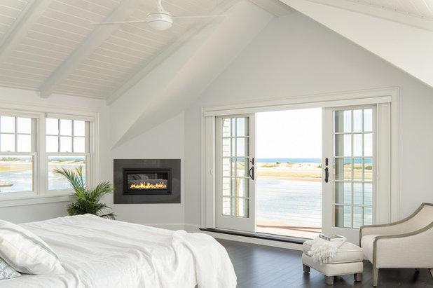 Coastal Bedroom by Richard Moody & Sons Construction LLC