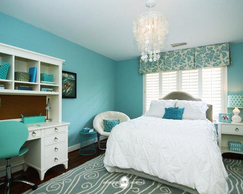 Aqua Girls Bedroom | Houzz