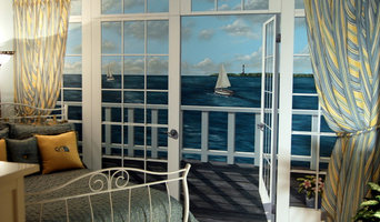 Ocean View Mural in Master Bedroom by Tom Taylor of Mural Art LLC, in Virginia